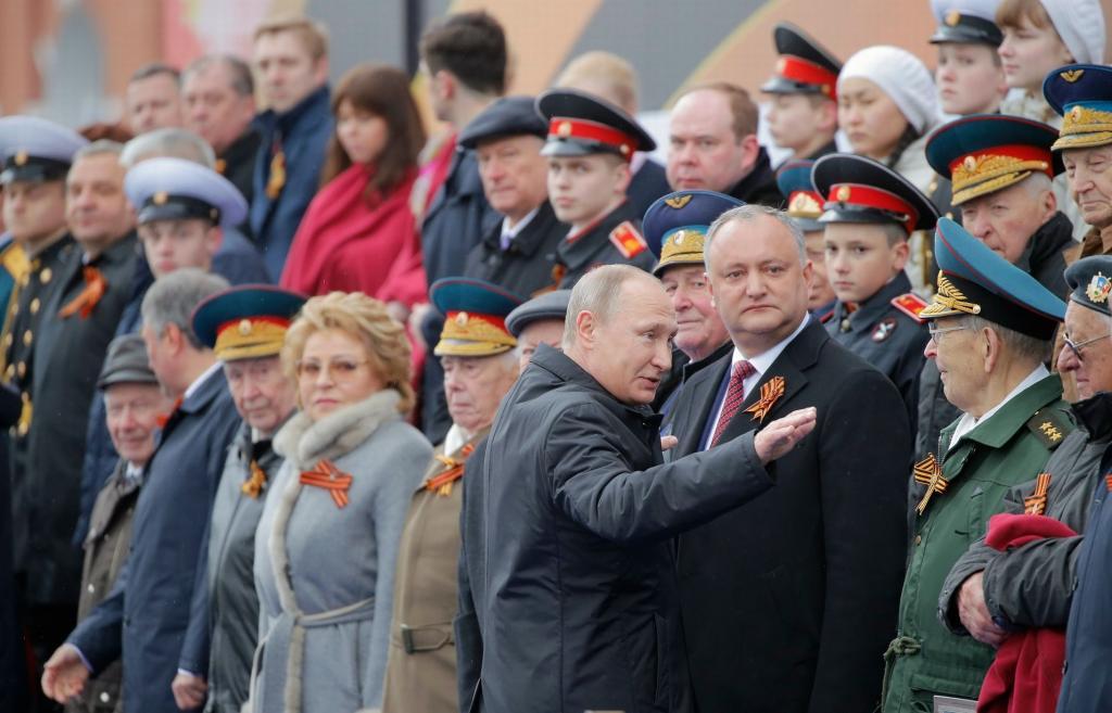 на военном параде