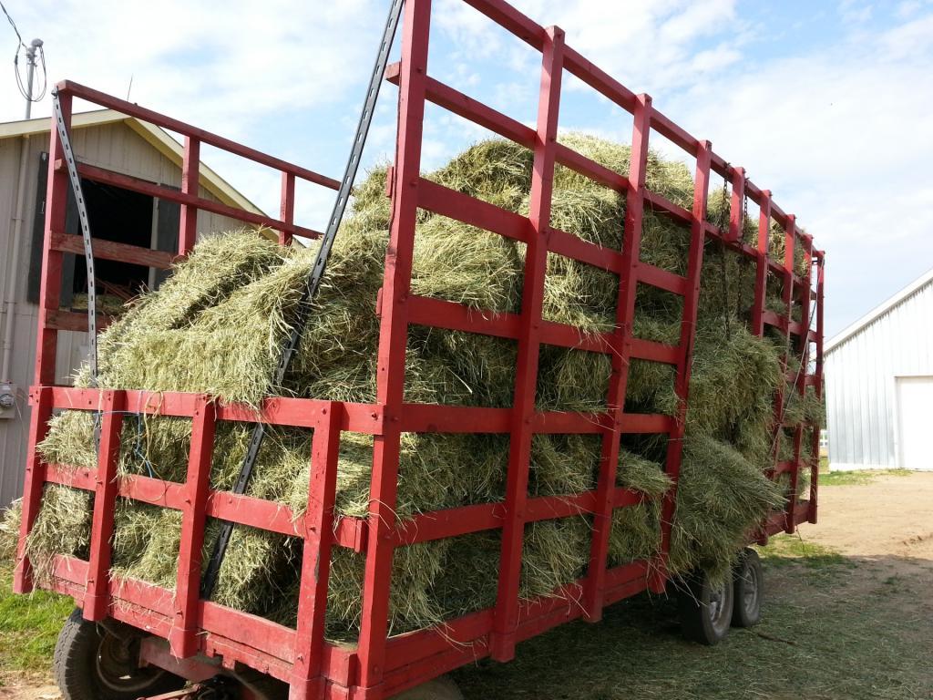 Транспортировка сена