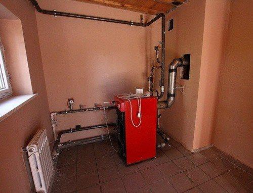 Котел системы отопления с естественной циркуляцией