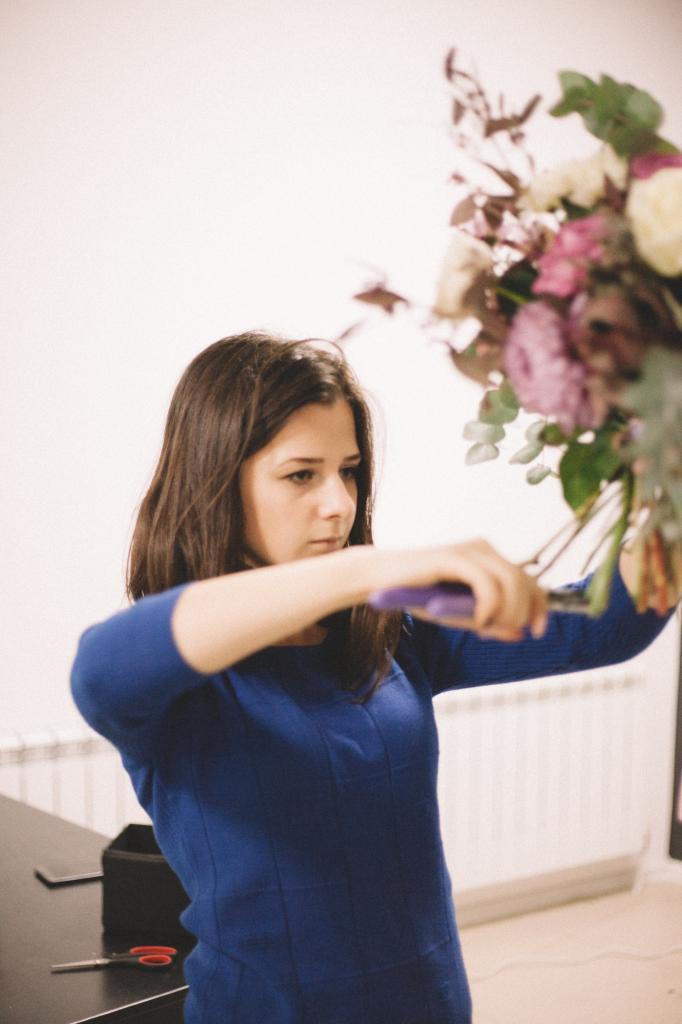 Процесс работы флориста