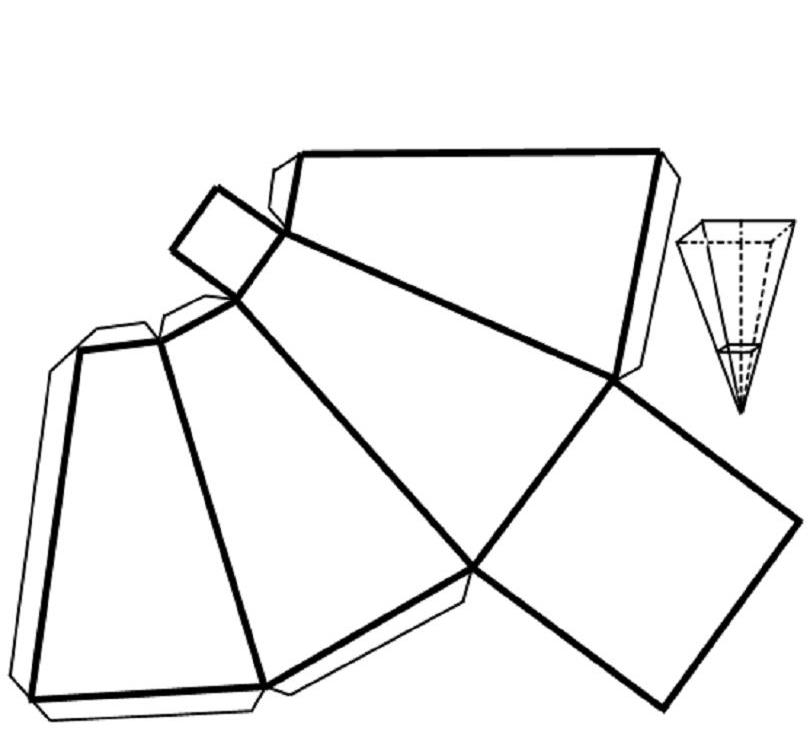 Развертка четырехугольной усеченной пирамиды