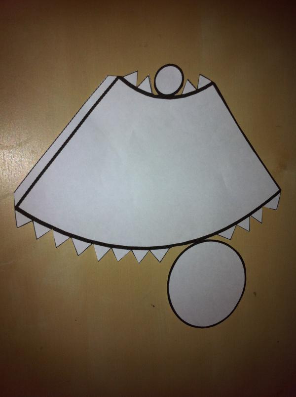 Бумажная развертка усеченного конуса