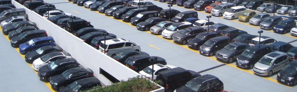 Парковка около третьего терминала