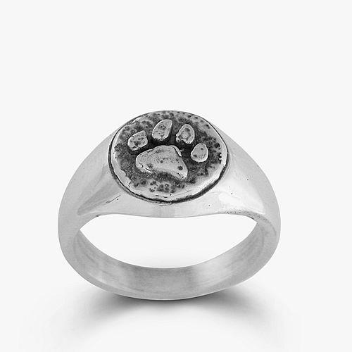 Кольцо с отпечатком лапки