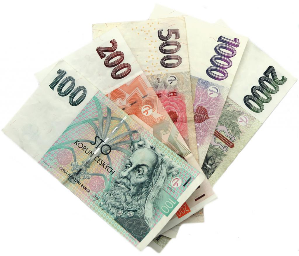 чешские банкноты
