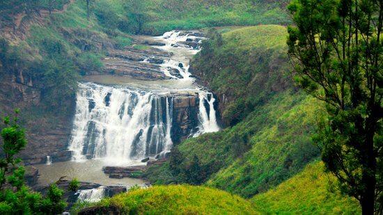 карта водопадов шри ланки