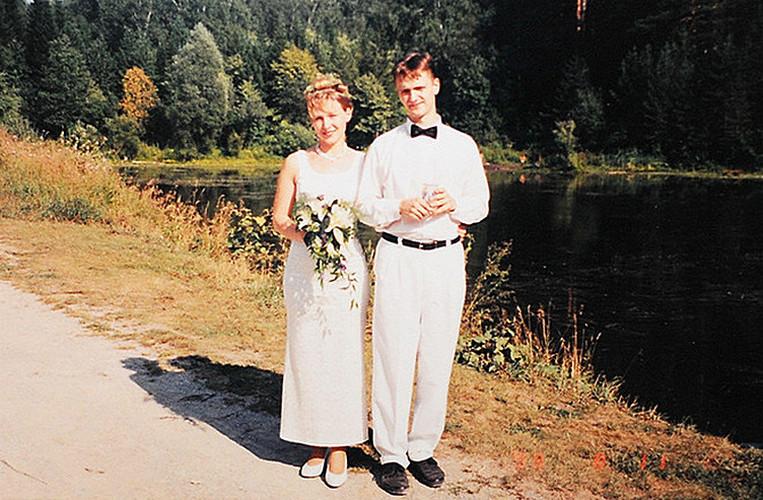 Молодожены Александр и Татьяна Пушные