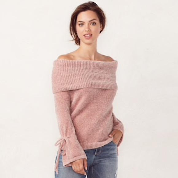 свитер с отворотом