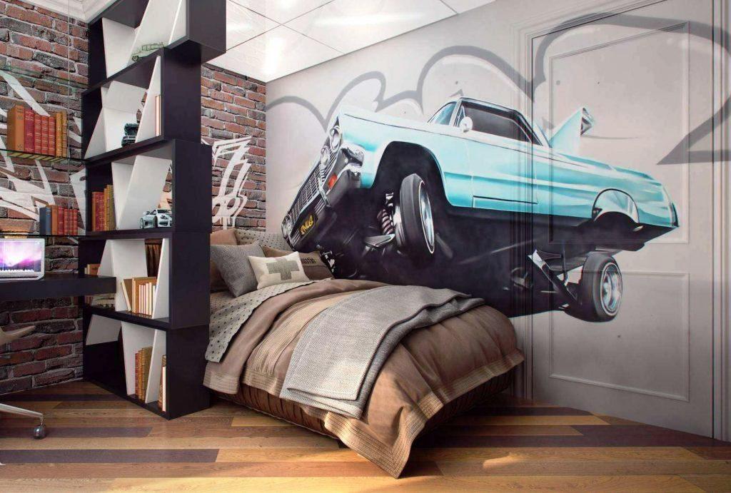 комната в стиле лофт для подростка