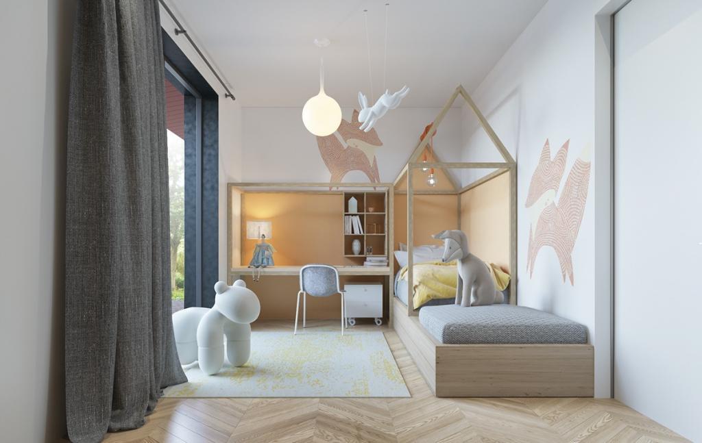 стильный дизайн детской комнаты