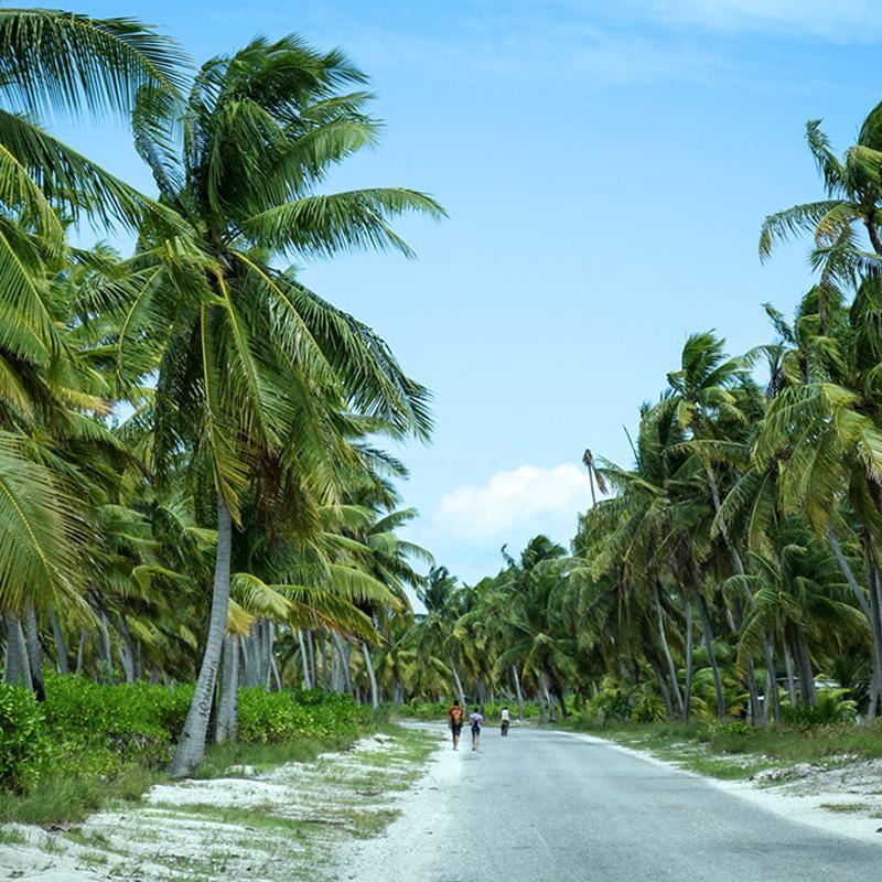Остров Кирибати в тихом океане