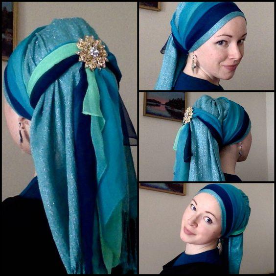 оригинальное завязывание шарфа