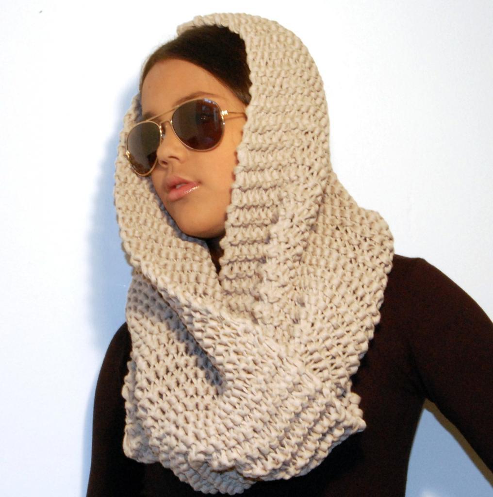 зимний шарф на голову