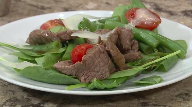 Салат из говядины и стручковой фасоли