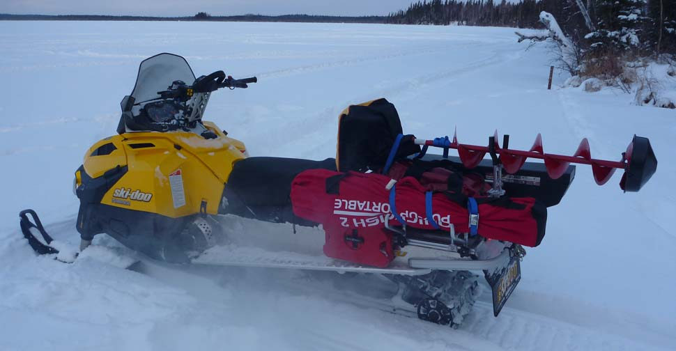 Снегоход для зимней рыбалки