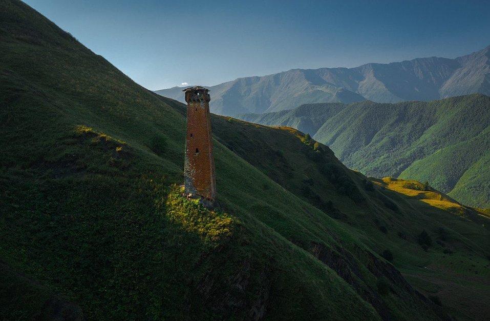Башня в горной Чечне