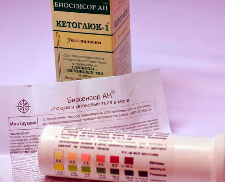 тестовые полоски для определения ацетона в моче