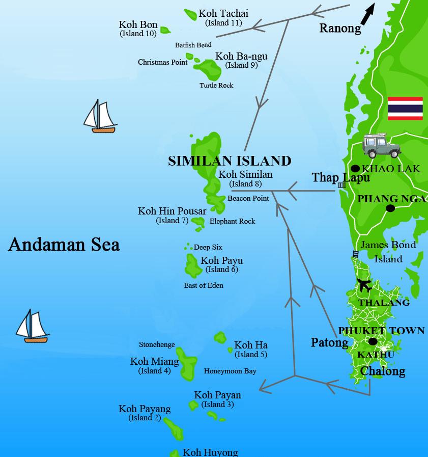 остров симилан где находится