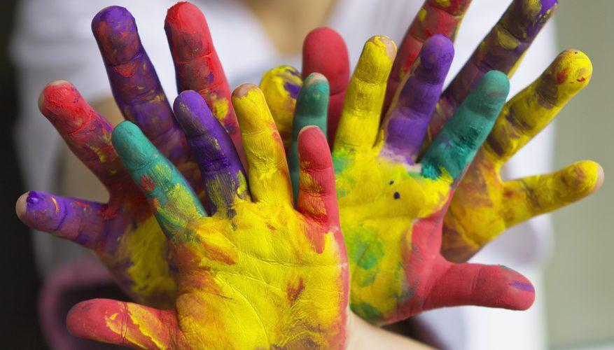 Ладошки в краске