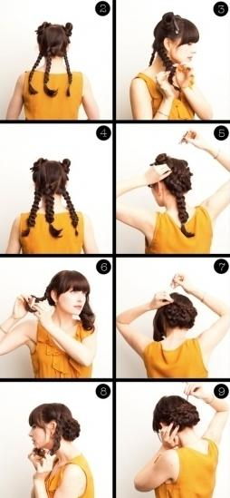 простая прическа на длинные волосы