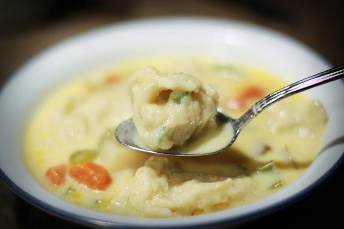 суп куриный с галушками рецепт