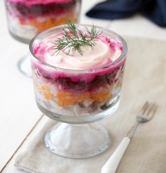 салат селедка под шубой калорийность