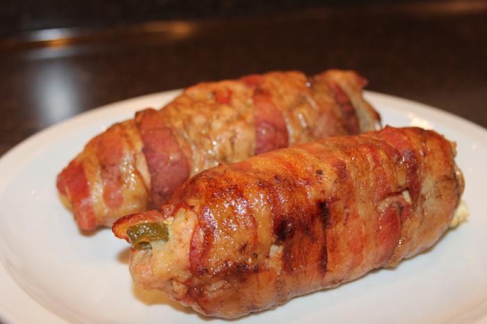 Рулеты из мяса с начинкой в духовке пошаговый рецепт с фото