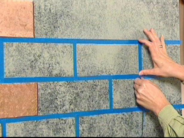 Сделать имитацию кирпичную стену