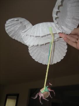 как сделать из бумаги парашют