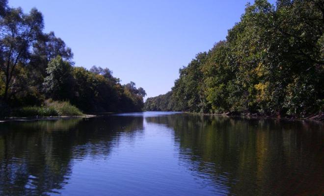 рыбалка в низовьях реки с.донец