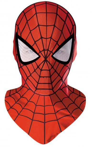 маска человека паука из бумаги