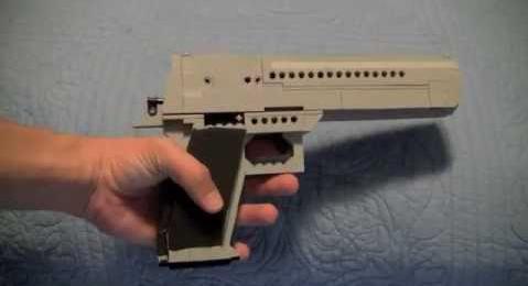 Как сделать лего пушку которая стреляет резинками 172