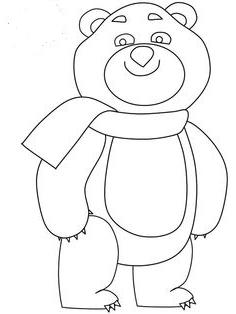 нарисовать олимпийского мишку 2014 поэтапно