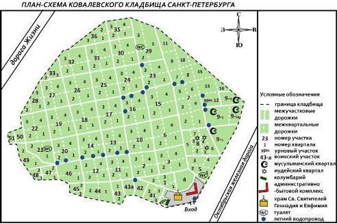 ковалевское кладбище санкт петербург карта
