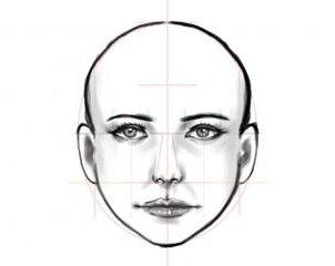 как нарисовать лицо девушки поэтапно