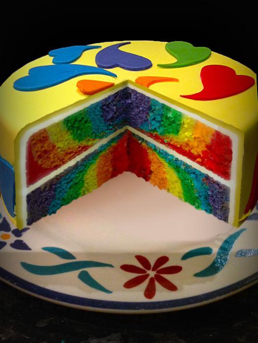 Рецепт торт разноцветный