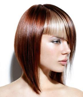 Каскад каре на средние волосы