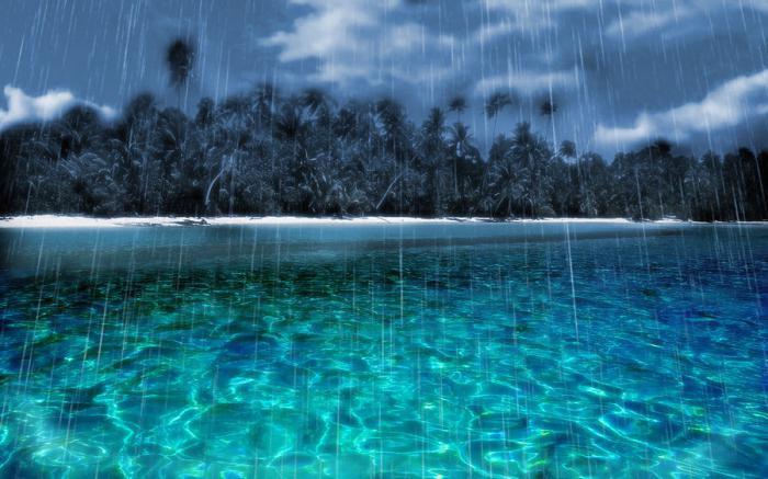 максимальное количество осадков выпадает на экваторе