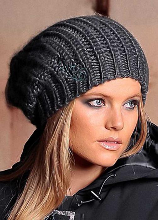Модные шапки вязаные женские