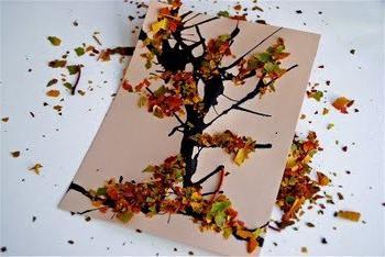 аппликация осень из цветной бумаги