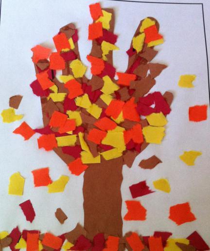 детские аппликации на тему осень