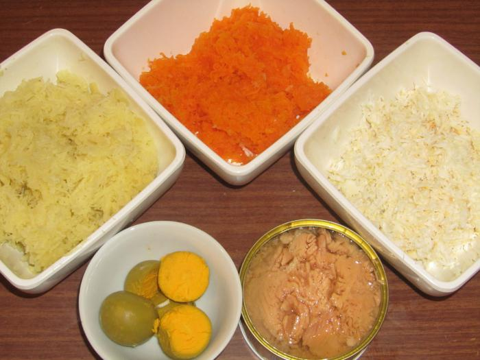 салат мимоза с тунцом рецепт