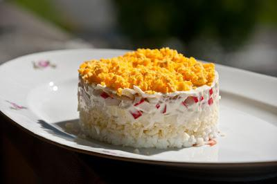 салат мимоза слоями рецепт