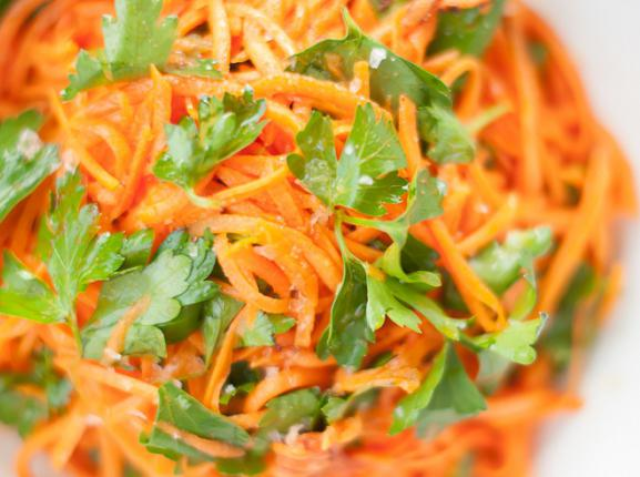 Салаты с корейское морковкой с