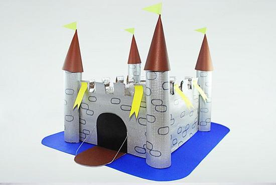 Как сделать замок из бумаг