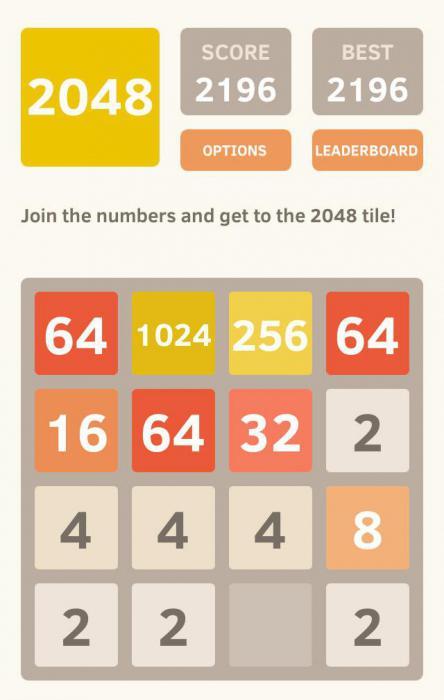 правила игры 2048