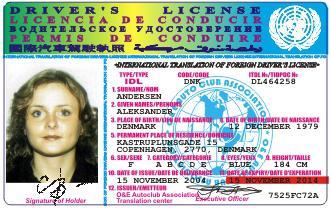 международные водительские права как выглядят
