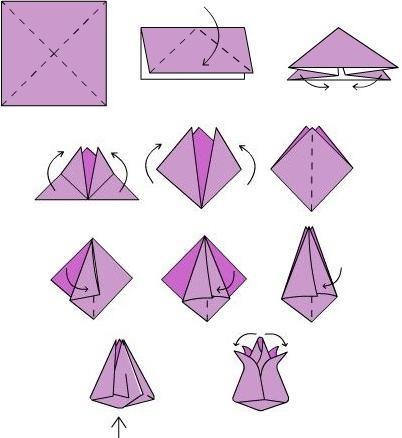 Оригами легко и быстро из бумаги