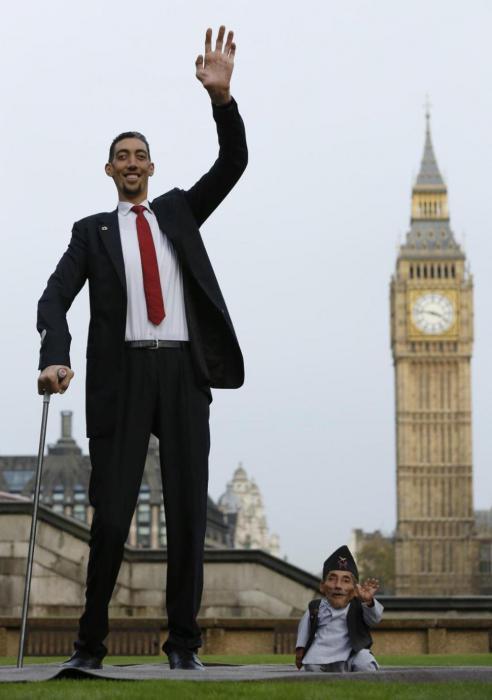 самые низкие и самые высокие люди