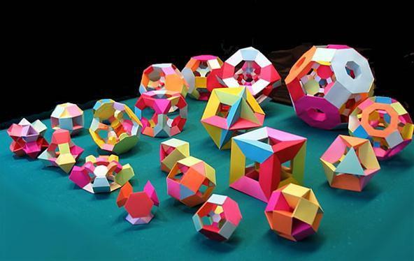Объемные поделки из геометрических фигур своими